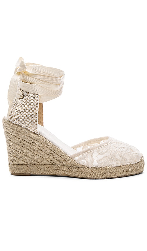 Soludos Tall Wedge in Ivory