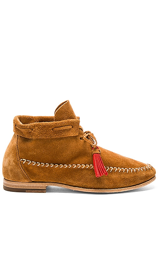 Soludos Moccasin Booties in Cognac