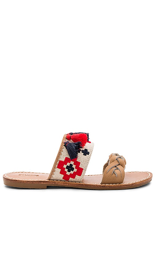 Soludos Embroidered Slide Sandal in Beige