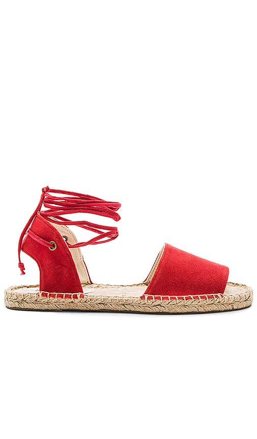 Soludos Balearic Tie Up Sandal in Red