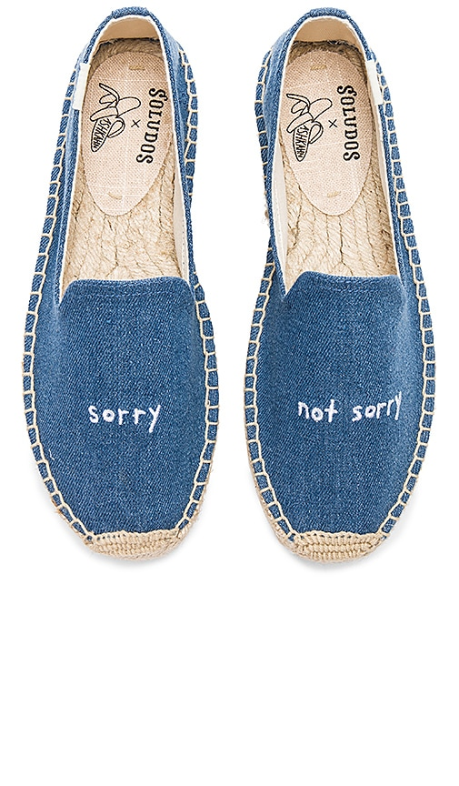 Soludos x Ash Kahn Sorry Platform Smoking Slipper in Blue