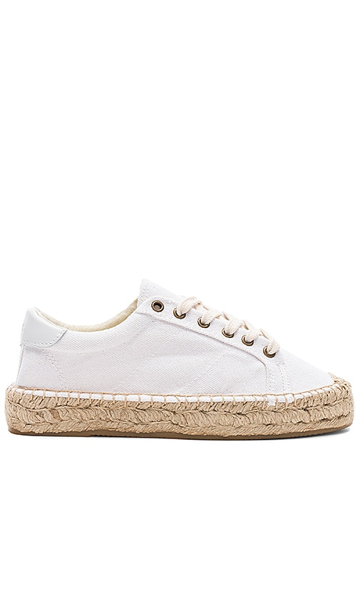 Soludos Platform Tennis Sneaker in White