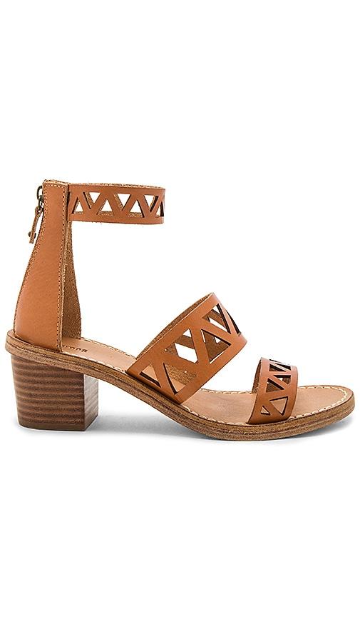 Geo Laser Cut Mid Heel Sandal