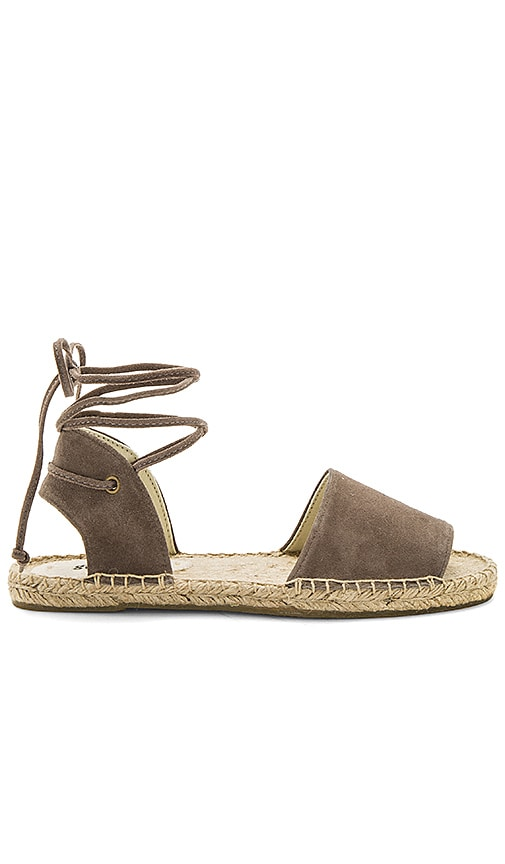 Soludos Balearic Tie Up Sandal in Gray