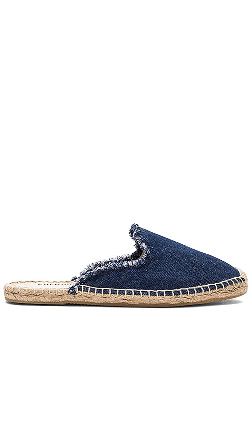 Soludos Frayed Mule in Navy