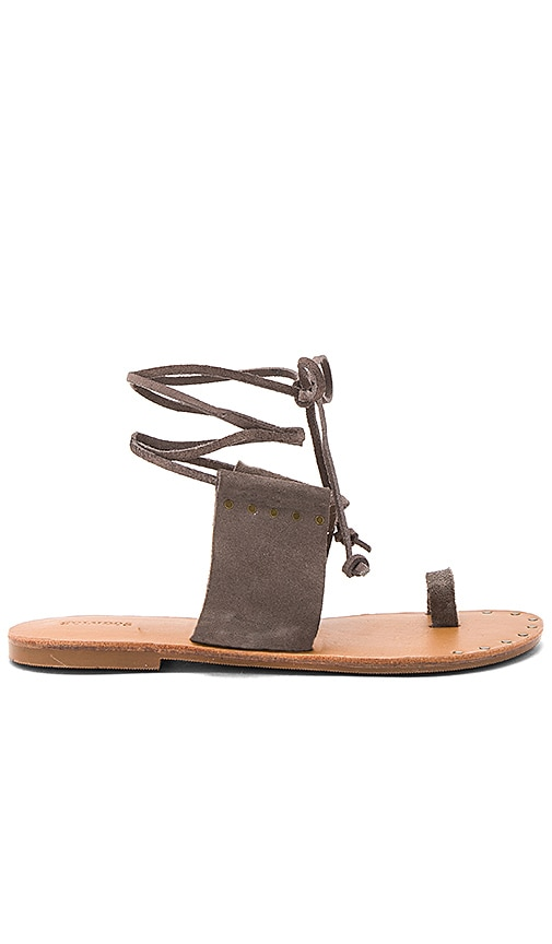 Soludos Milos Sandal in Charcoal