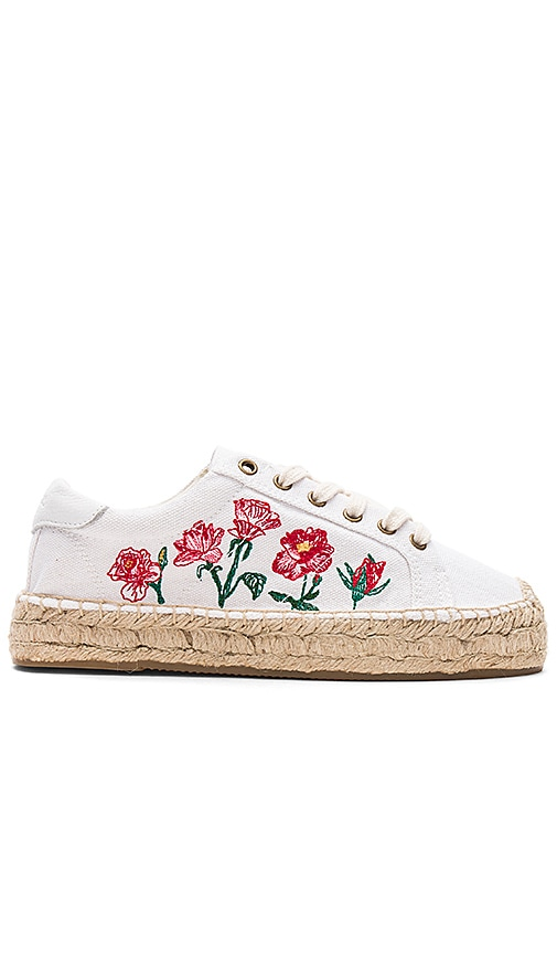 Soludos Rose Platform Tennis Sneaker in White