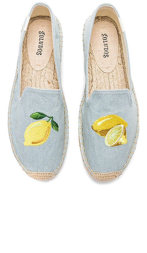 Soludos Lemon Platform in Baby Blue