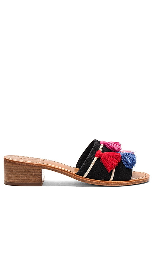 Soludos Tassel City Sandal in Black
