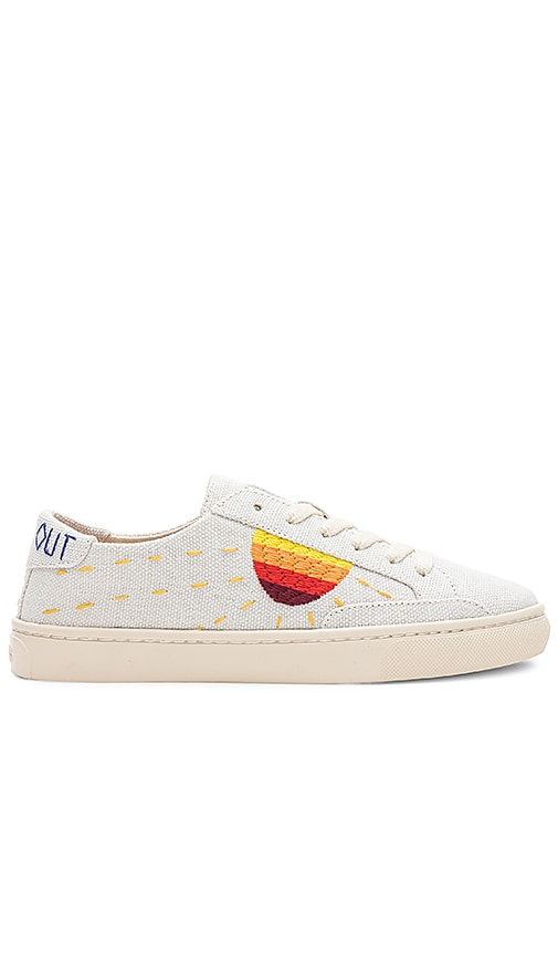 Soludos Canvases EMBROIDERED SUN SNEAKER