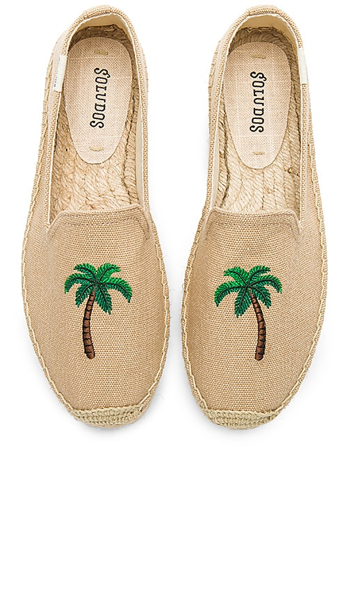 Palm Tree Smoking Slipper in Taupe. - size 6 (also in 10,6.5,7,7.5,8,8.5,9,9.5) Soludos