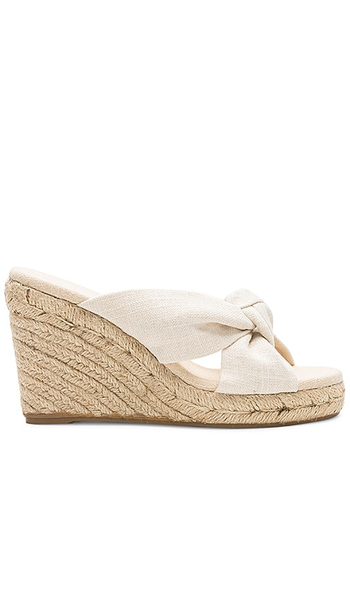 Soludos Knotted Wedge (90MM) in Beige
