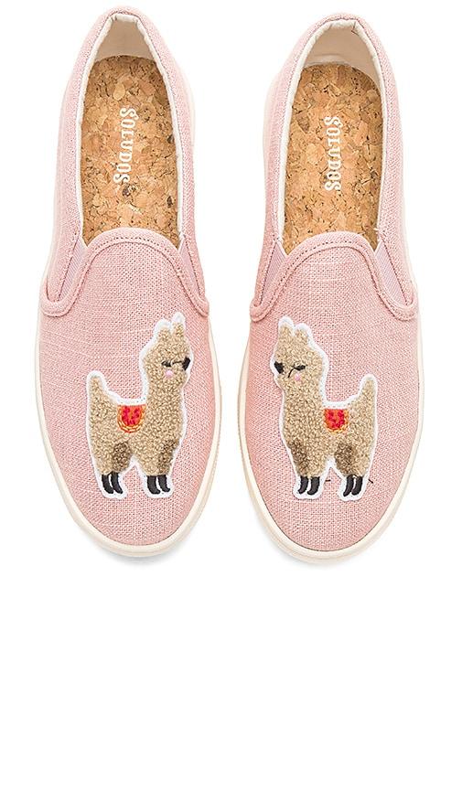 Soludos Llama Slip On Sneaker in Pink