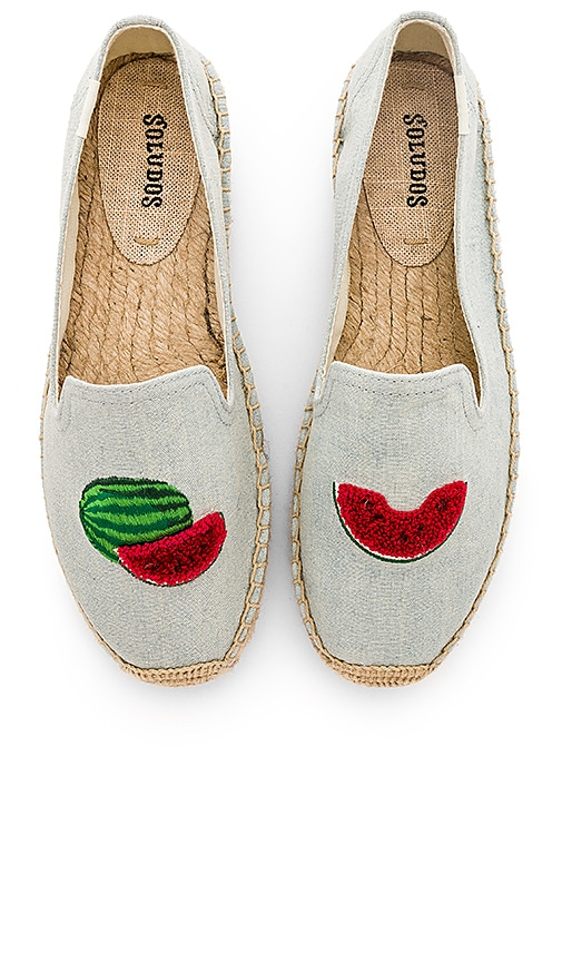 Soludos Watermelons Smoking Slipper in Chambray | REVOLVE