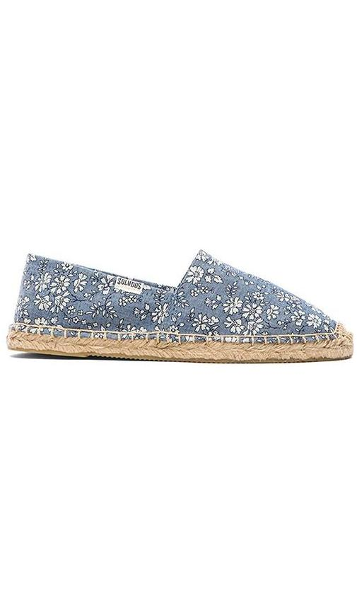 Denim Flowers Flat