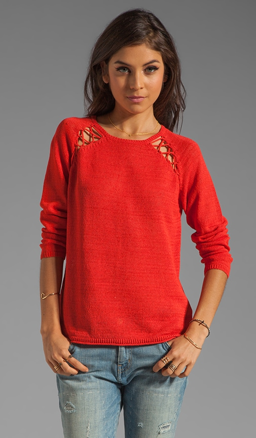 Laced Knit Sweater