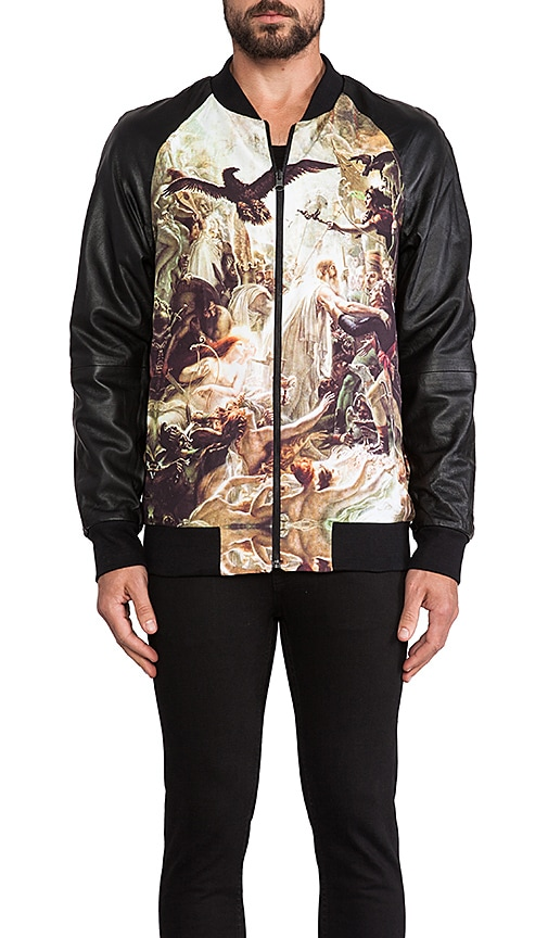 Mythical Hero and Dancing Tigers Reversible Bomber