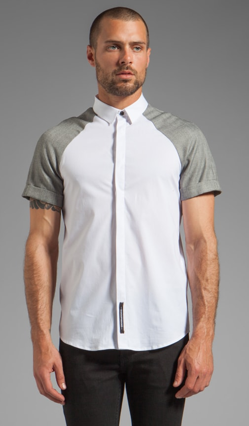 Contrast Sleeves Shirt