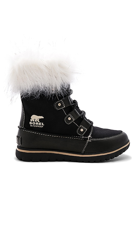 Sorel Cozy Joan X Celebration Faux Fur Boot in Black
