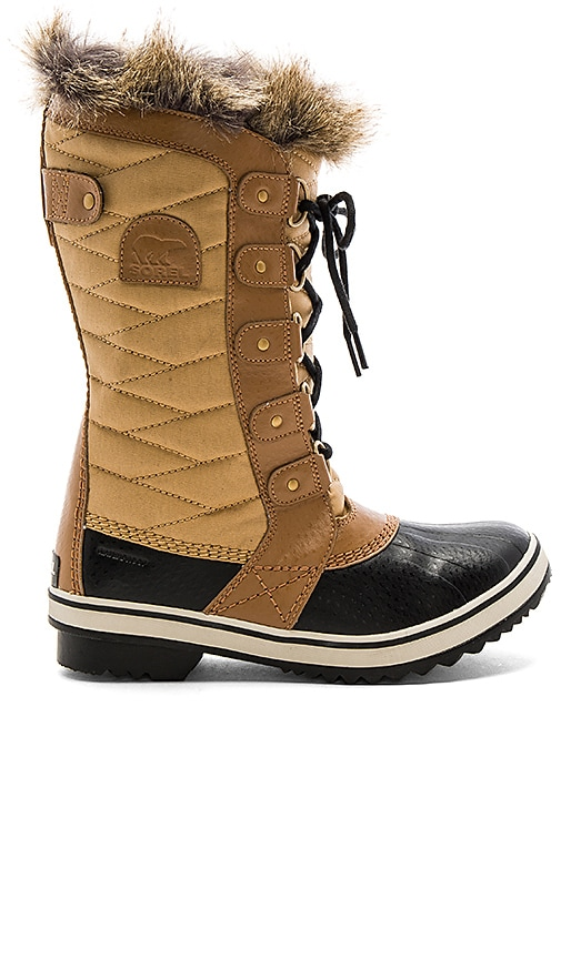 Sorel Tofino II Boot with Faux Fur in Tan