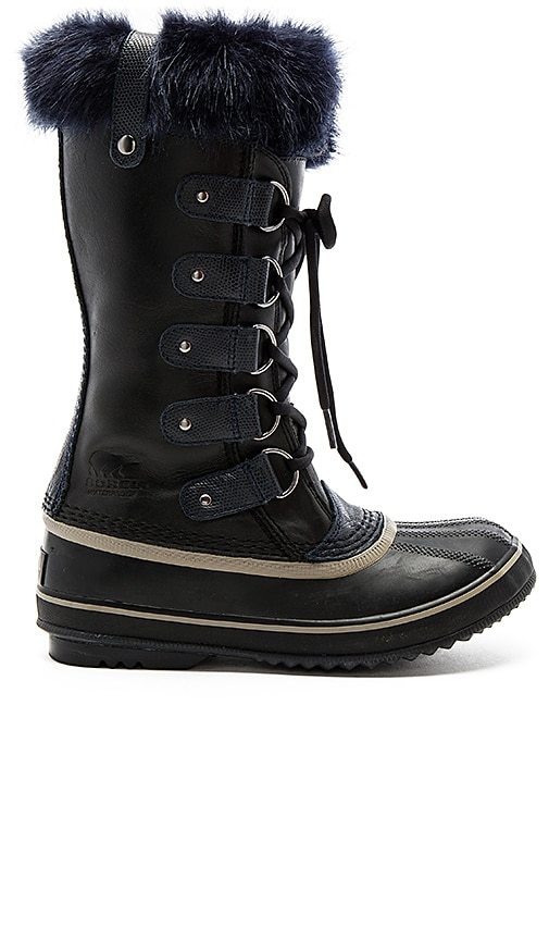 Sorel Joan of Arctic Obsidian Boot with Faux Fur in Black