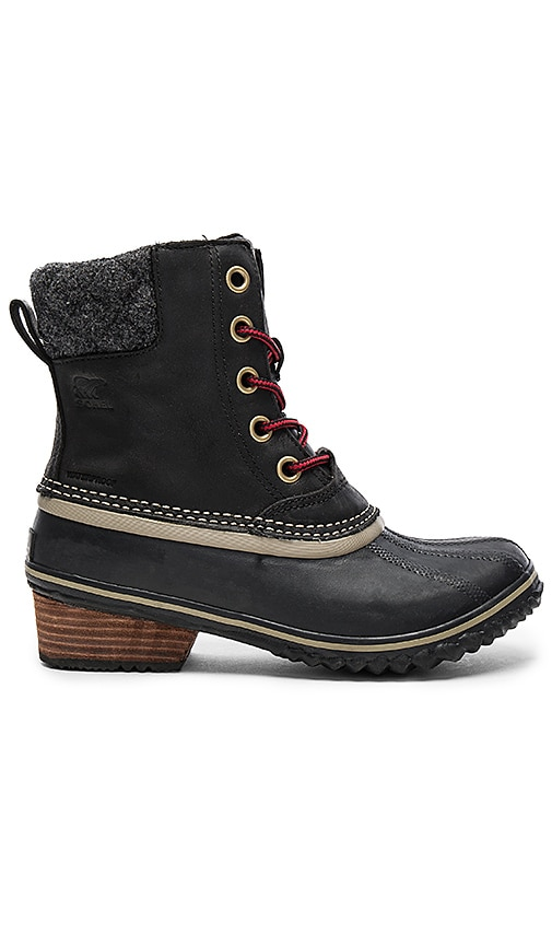 Sorel Slimpack II Lace Boot in Black