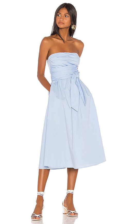 df12cac9634 Song of Style Loki Midi Dress in Powder Blue | REVOLVE