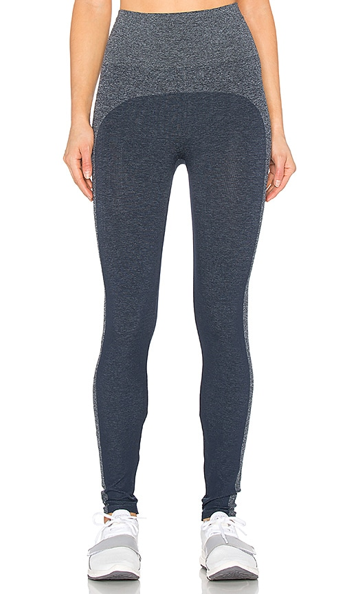 SPANX Marled Seamless Leggings in Navy