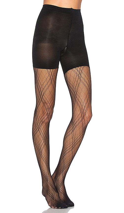 SPANX Plaid Lace Tights in Black