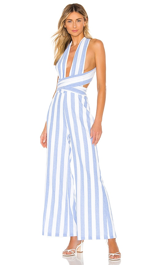 Kia Striped Jumpsuit