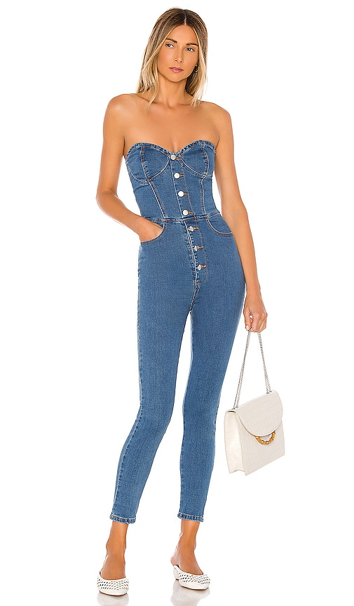 Linda Denim Jumpsuit by Superdown