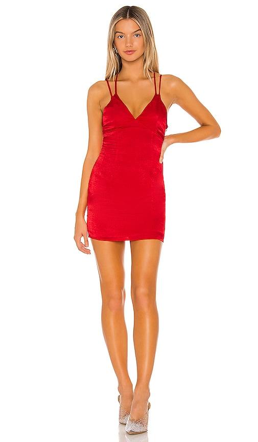 on wholesale in stock good texture superdown Maria Slip Mini Dress in Red | REVOLVE