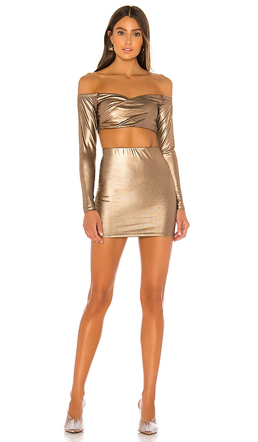 Ira Off Shoulder Mini Skirt Set