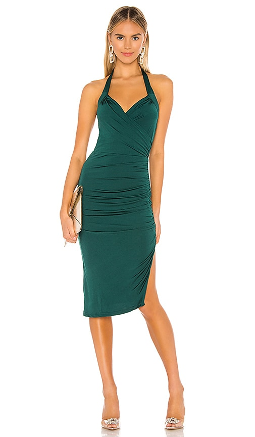 superdown Jaden Halter Midi Dress in Green | REVOLVE