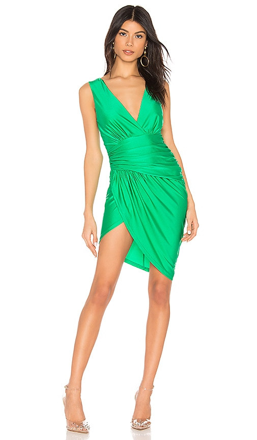 Roa Ruched Wrap Dress