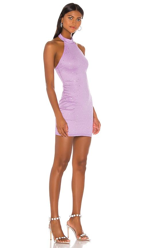 Superdown Taylia Lavender Halter Mini Dress