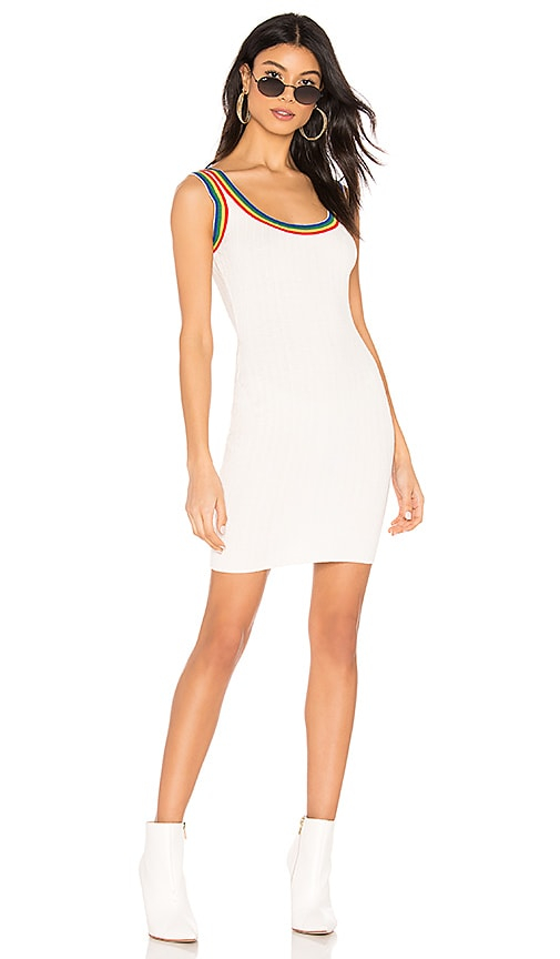 Drea Rainbow Ribbed Mini Dress