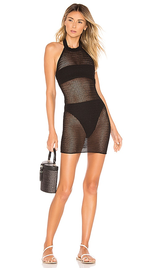 Racheal Net Halter Dress