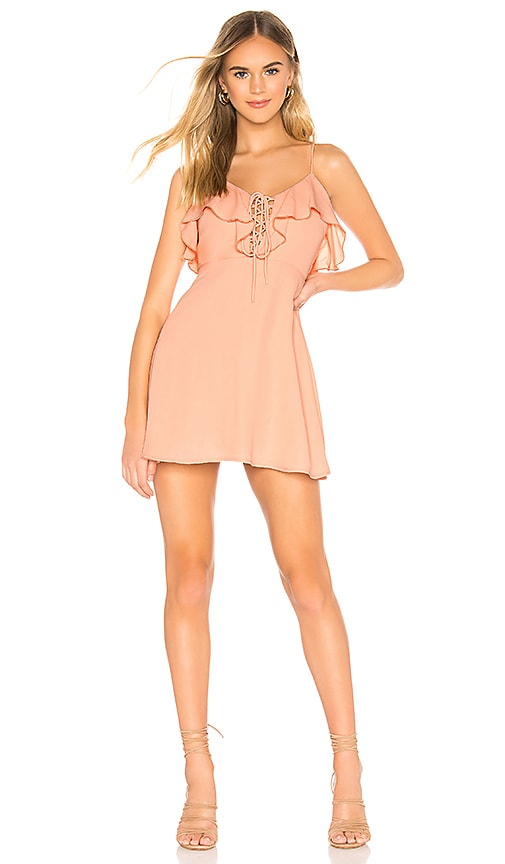 Whitney Ruffle Lace Up Dress