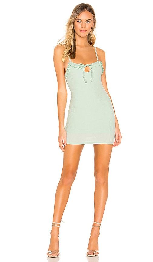 f3990658ee81 superdown Camille Ruffle Keyhole Dress in Mint Green | REVOLVE