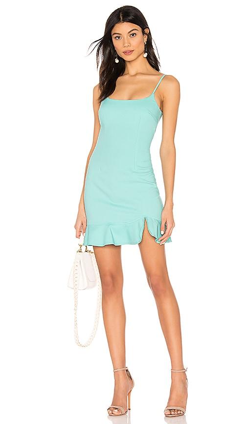 superdown Shayla Ruffle Mini Dress in Seafoam  43468d690