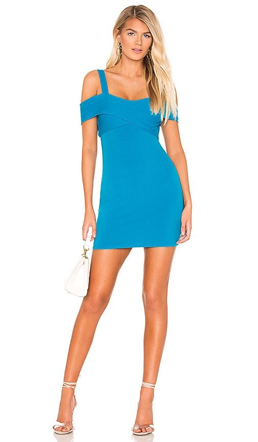 d693f1a25438 superdown Evie Cold Shoulder Mini Dress in Aqua | REVOLVE