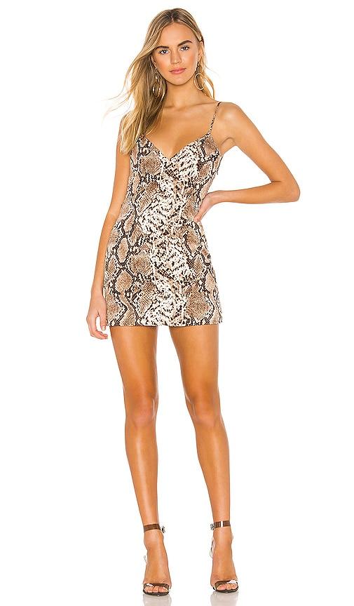 Marie Deep V Mini Dress
