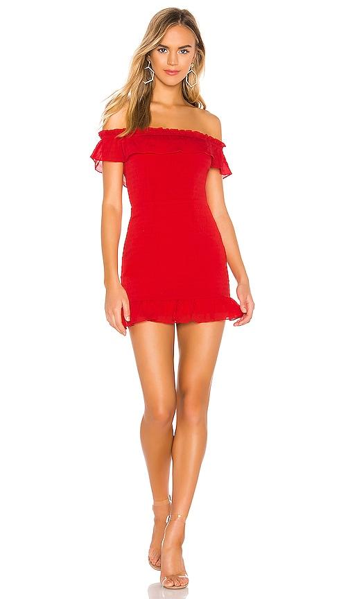 Jennifer Ruffle Mini Dress