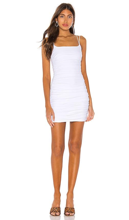 0ed3f5dae0f6 superdown Lisa Ruched Mini Dress in White | REVOLVE