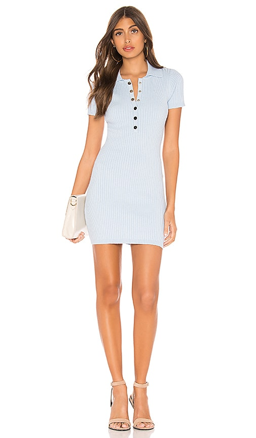 Leyla Ribbed Polo Dress