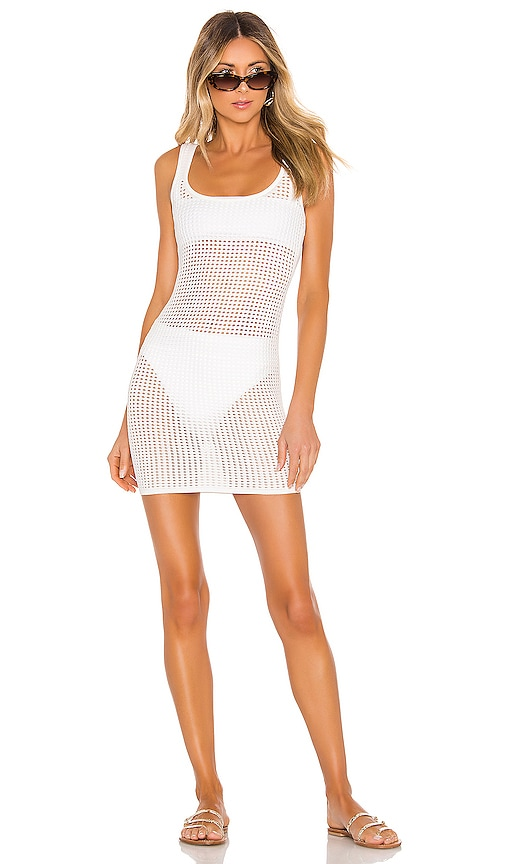 Superdown Talulah Knit Mini Dress in Ivory
