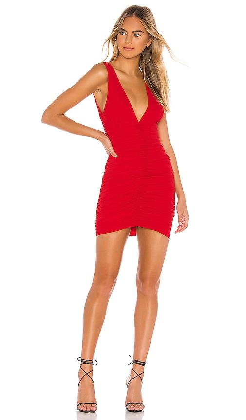 81ded151f02cf superdown Carla Ruched Mini Dress in Red   REVOLVE