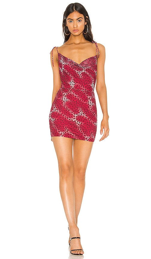 superdown Kordilla Mesh Dress in Pink Leopard | REVOLVE