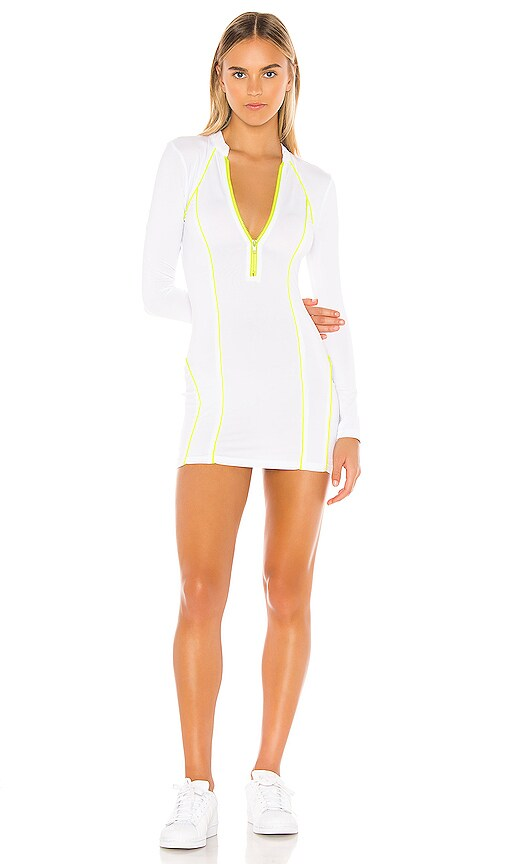 Marina Zip Front Dress by Superdown